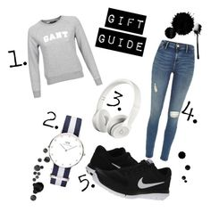 """""""Untitled #2"""" by sofiaklingsbo on Polyvore featuring GANT, Daniel Wellington and NIKE"""