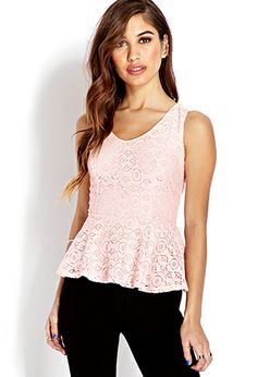 Lace Peplum Top | FOREVER21 - 2000064231 #F21Crush