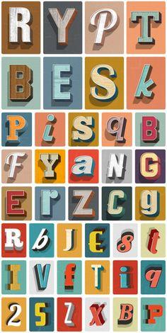 weandthecolor:    Vintage Text Effects Bundle   ... |