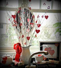 Valentine Printable, Tree and Vignette.