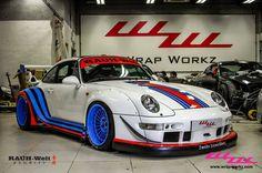 RWB Porsche with Martini livery