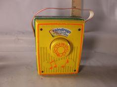Vintage Fisher -Price 762 Pocket Radio Music Box Raindrops Keep Falling On My Head 1972. epsteam by retroricks on Etsy