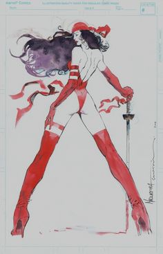 ELEKTRA by sienkiewicz and madureria for sale!!!, in Richard k's CHRISTMAS SALE updates!!!! Comic Art Gallery Room