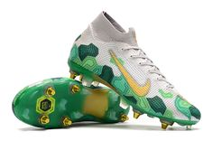 Nike Mercurial Superfly Nike Football Boots, Walking Barefoot, Lace Socks, Next Day, Superfly, High Level, High Cut, Green And Gold, Cleats