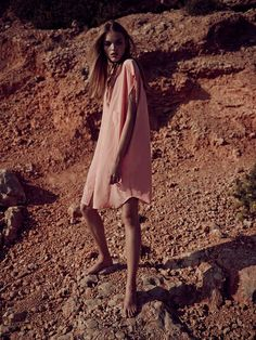 Fashion Editorial Desert Pink Dress