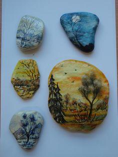 Maľované kamene Coasters, Coaster Set