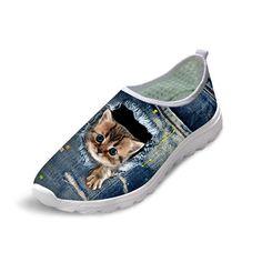 Pet Lovers Fest British Shorthair Cat Print Running Shoes for Women-Lightweight Shoes