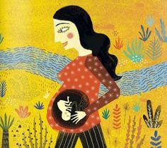 Mariana Ruiz Johnson   Kireei, cosas bellas Birth Art, Posca Art, Ad Art, Illustrator Tutorials, Imagines, Illustrations And Posters, Children's Book Illustration, Mother And Child, Vintage Posters