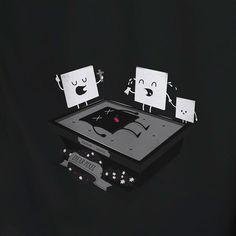 Dead pixel : Teeshirt Illustrations by Laurent Batel