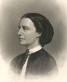 Miss Clara H. Barton. Engraving by John Sartain. New-York Historical Society, 90889d. #neverthelessshepersisted