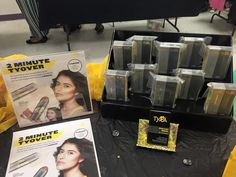 Tyra Beauty Products. Customer pic from a Tyra Beautytainer using our solid black Stack Displays!