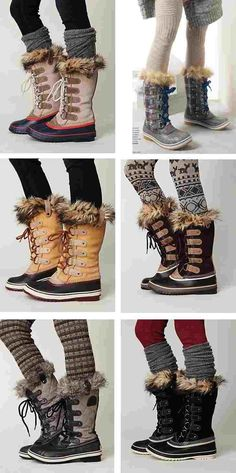 Sorel boots for winter, NEED these too, just if it snows deep... So short boots and tall boots :D
