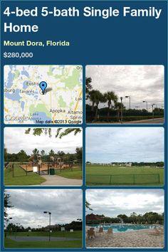 4-bed 5-bath Single Family Home in Mount Dora, Florida ►$280,000 #PropertyForSale #RealEstate #Florida http://florida-magic.com/properties/3045-single-family-home-for-sale-in-mount-dora-florida-with-4-bedroom-5-bathroom