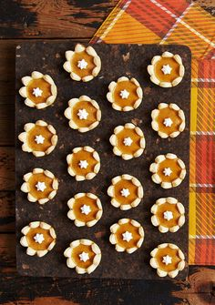 These bite-sized treats are a super-cute addition to your Thanksgiving dessert table.