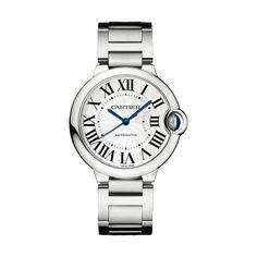 Ballon Bleu de Cartier watch, medium model - Quartz, steel - Fine Timepieces for men and for women - Cartier Cartier Calibre, Cartier Panthere, Cartier Watches Women, Watches For Men, Men's Watches, Bvlgari Watches, Jewelry Watches, Cartier Santos, Stylish Watches