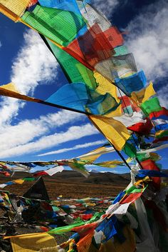 Prayer flags-Tibet - sending prayers and protection on the wind