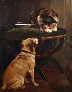 William Osborne Let Us Be Friends 19th century - still life quick heart
