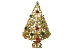 MYLU Floral Christmas Tree Brooch