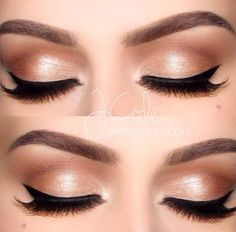 Perfect wedding eye makeup for the bride that doesn't wear much makeup but wants something a bit glamorous