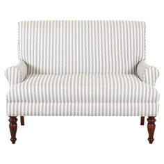 ticking stripe upholstered loveseat $591