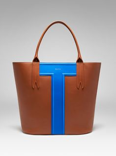 Peregrine Max Weekender by peryton.com in cognac and blue French calf skin. Handcrafted in New York.
