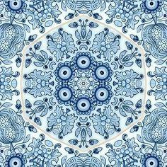 Delfs blauw keramische transfer