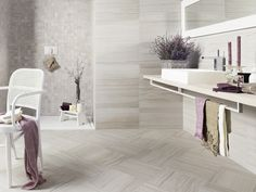 Emser Motion Cue x Glazed Porcelain Stone Look Tile at Lowe's. Motion™ reflects a design-forward recreation of veincut, honed limestone in porcelain tile. Best Floor Tiles, Wall And Floor Tiles, Wall Tiles, Porcelain Wood Tile, Porcelain Floor, Tile Trim, Outdoor Flooring, Bathroom Flooring, House Design