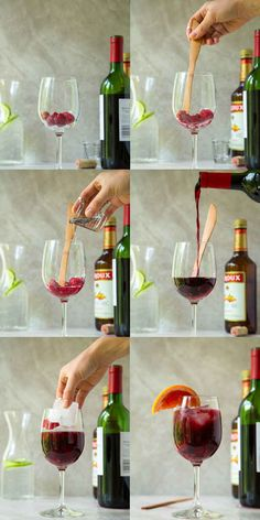 Make single-serve sangria with just four ingredients.