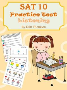 This is a practice test that follows the same structure as the SAT 10 (Stanford Achievement Test  10th Edition) for kindergarten. My students often have trouble with the Listening portion of the test, so I made these practice passages to help them prepare for that section.