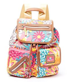 This Yellow & Orange Garden Riley Backpack by Lily Bloom is perfect! #zulilyfinds