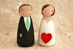 Custom Wooden Bride and Groom Wedding Couple for Gift or Cake Topper