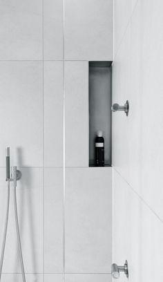 Vola Shower in stainless steel # Vola bathroom taps available via inoxtaps.com # architect: Jos van Zijl | Badkamer Wilnis