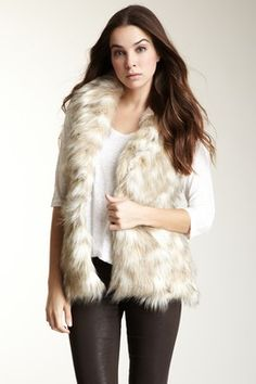 Bardot Faux Fur Pixie Vest - how do I get hubby to get me a real one though?