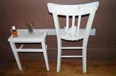 nachtkastje gemaakt van een oude stoel,orgineel en simpel te maken