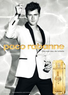 1 Million Cologne Eau De Toilette - Perfume Masculino Cologne, Parfum Chic, Sean O'pry, New Freedom, Perfume Ad, Print Advertising, Paco Rabanne, One In A Million, Floral