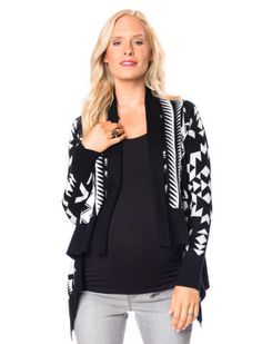 Destination Maternity Wendy Bellissimo Long Sleeve Cascade Maternity Cardigan