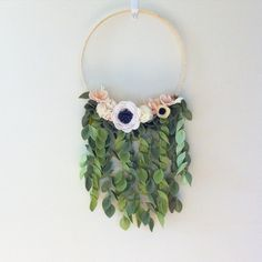 all i want to do is hang leaves on everything. 🌿 enough with the sneak peeks, eh? hoops, mobiles, + monogram letters coming in march. can't wait to get these babies in some nurseries to get some styled photos! 785 Likes, 124 Comments - katie Felt flowe Crafts For Girls, Baby Crafts, Crafts To Do, Felt Crafts, Arts And Crafts, Felt Flowers, Diy Flowers, Fabric Flowers, Felt Flower Wreaths