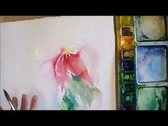 How to Control Watercolour While Adding Fluid Color - Angela Fehr