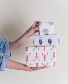 Adorable wrapping paper for year-round gifting by Sara Fitz Cute Box, Boutique Shop, Beach Themes, Cable Knit Sweaters, Beach Trip, Polka Dots, Wraps, Stationery, Gift Wrapping
