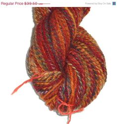 Susanne sponsored our Sneak Attack on 11/21 -- great shops, Susanne, and thanks for sponsoring! ~~ Christmas Sale Handspun Merino Wool, Hand Dyed Worsted by SussesSpindehjrne, $35.55