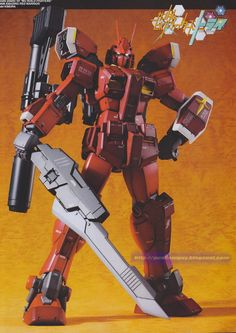 GUNDAM GUY: MG 1/100 Gundam Amazing Red Warrior - Customized Build