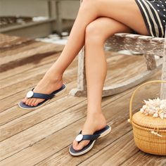 Ahoy! Our no-slip sole flip flop is now in navy! | Lindsay Phillips Switchflops ~ Change Your Look, Not Your Sole