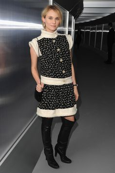 Diane Kruger in Chanel - At the Chanel Haute-Couture S/S 2012 Show @ Paris Fashion Week.  (January 2012)