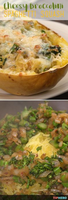 If you've never cooked spaghetti squash before - or even if you have! - this is the recipe for you - Cheesy Broccolini Spaghetti Squash. The combination of the spaghetti squash, sauteed onions, garlic and broccolini and the mozzarella and parmesan topping makes this healthy dish a flavorful show stopper. Click for the recipe and video and give it a try!