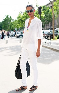 Your Memorial Day Weekend Guide to Wearing All White via @WhoWhatWear
