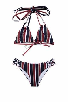 The perfect triangle top bikini. Double straps, and fully adjustable. Criss cross strings on lateral / bottom. Bikini Girls, Bikini Set, Perfect Triangles, Girls Bathing Suits, Two Piece Swimwear, Triangle Bikini Top, Our Girl, These Girls, Two Pieces