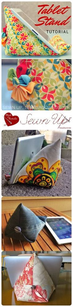 This iPad stand, wedge or bean bag is functional as well as decorative. When I made my first iPad bean bag I realised that the item is quite large and therefore very visible in any room.