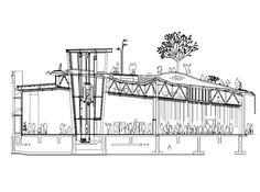 Hanamidori Cultural Center / Atelier Bow-Wow. Cerchas para sostener una superficie de tierra(habitable)