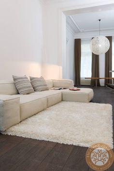 Rhapsody Shaggy carpet, beige, 40% wool, 20% PP, 40% PE. ID: 25-1-100.