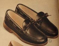 1940s Mens Shoes- 1947 Topsider  shoes with tie